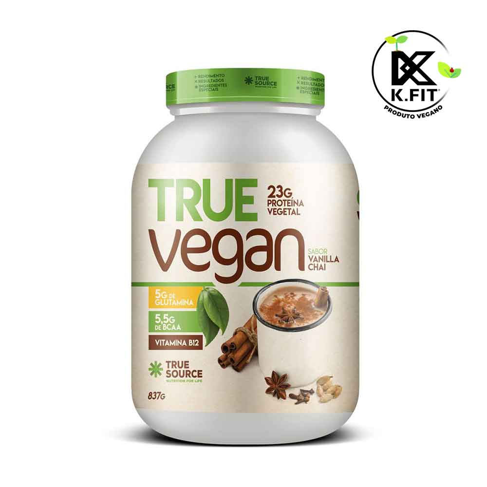 True Vegan Chai Tea 837g - Proteina Vegana True Source  - KFit Nutrition