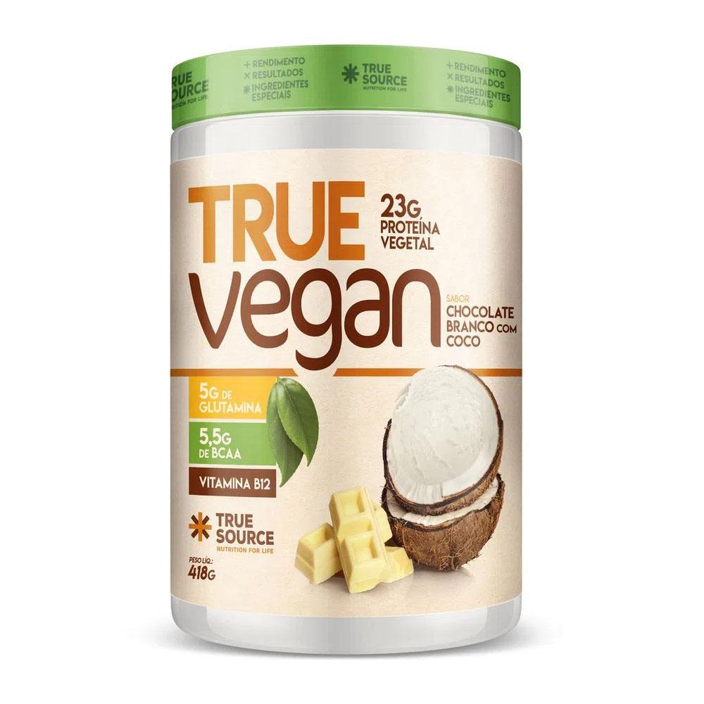 True Vegan Chocolate Branco com Coco 418g - Treu Source  - KFit Nutrition