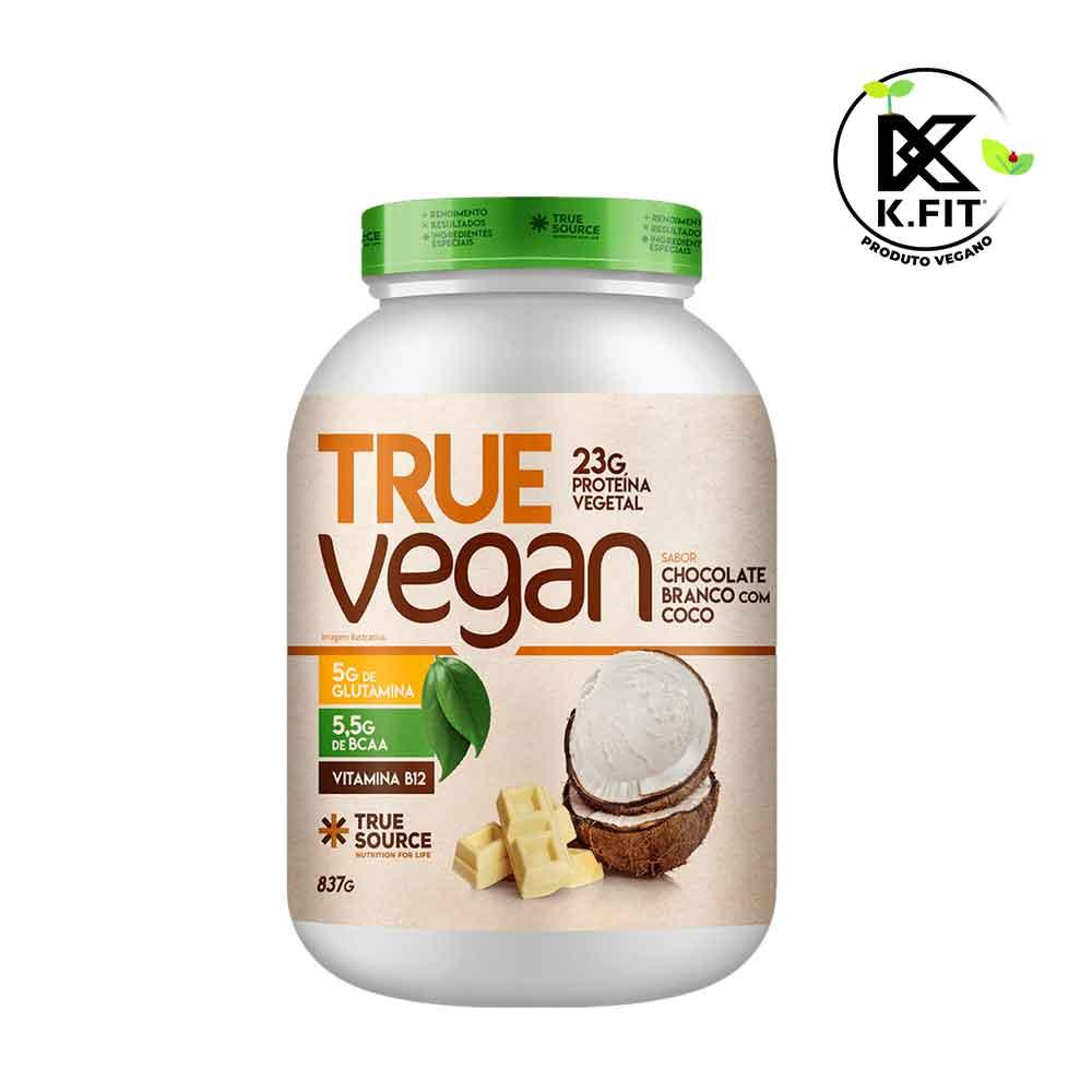 True Vegan Chocolate Branco com Coco 837g Novo - Treu Source  - KFit Nutrition