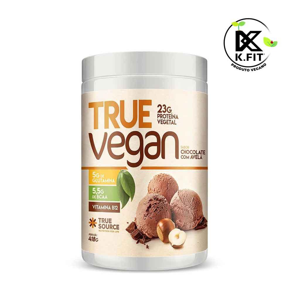 True Vegan Chocolate com Avela 418g - Proteina Vegana True Source  - KFit Nutrition