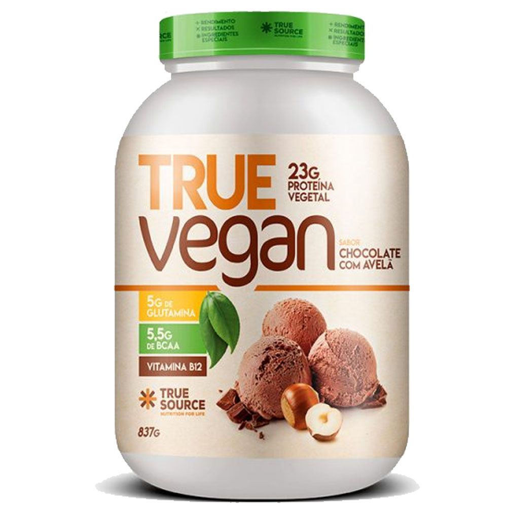 True Vegan Chocolate com Avela 837g - Proteina Vegana True Source  - KFit Nutrition