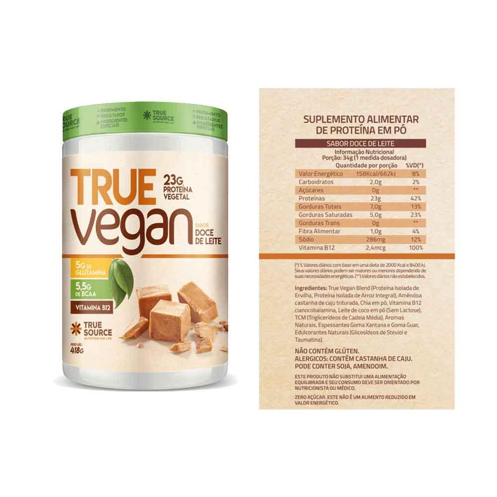 True Vegan Doce de Leite 418g - Treu Source e Creatina Vegana Mais Mu 210g Limonada e Glutamina Muke 300g - Mais Mu e Pré Treino Exquenta Muke 300g Pink Lemonade - Mais Mu.  - KFit Nutrition