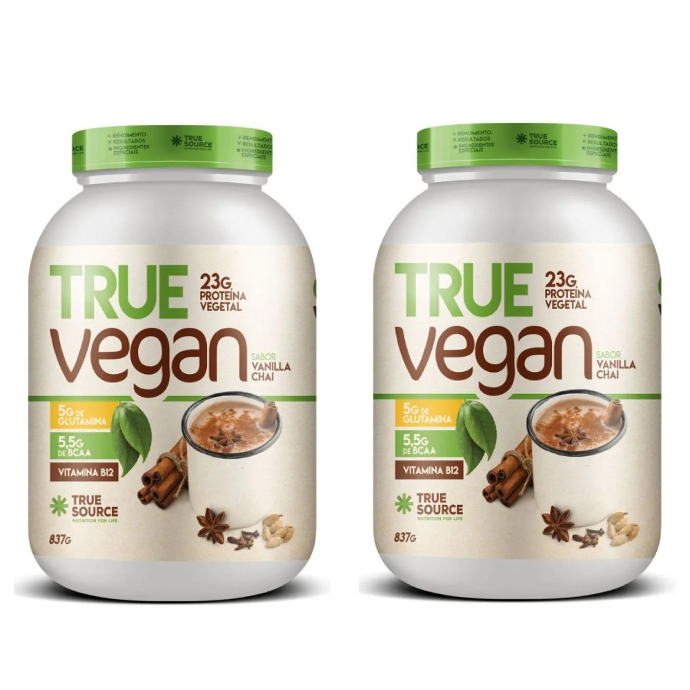 2 Un True Vegan Vanilla 837gProteina Vegana True Source - KFit Nutrition