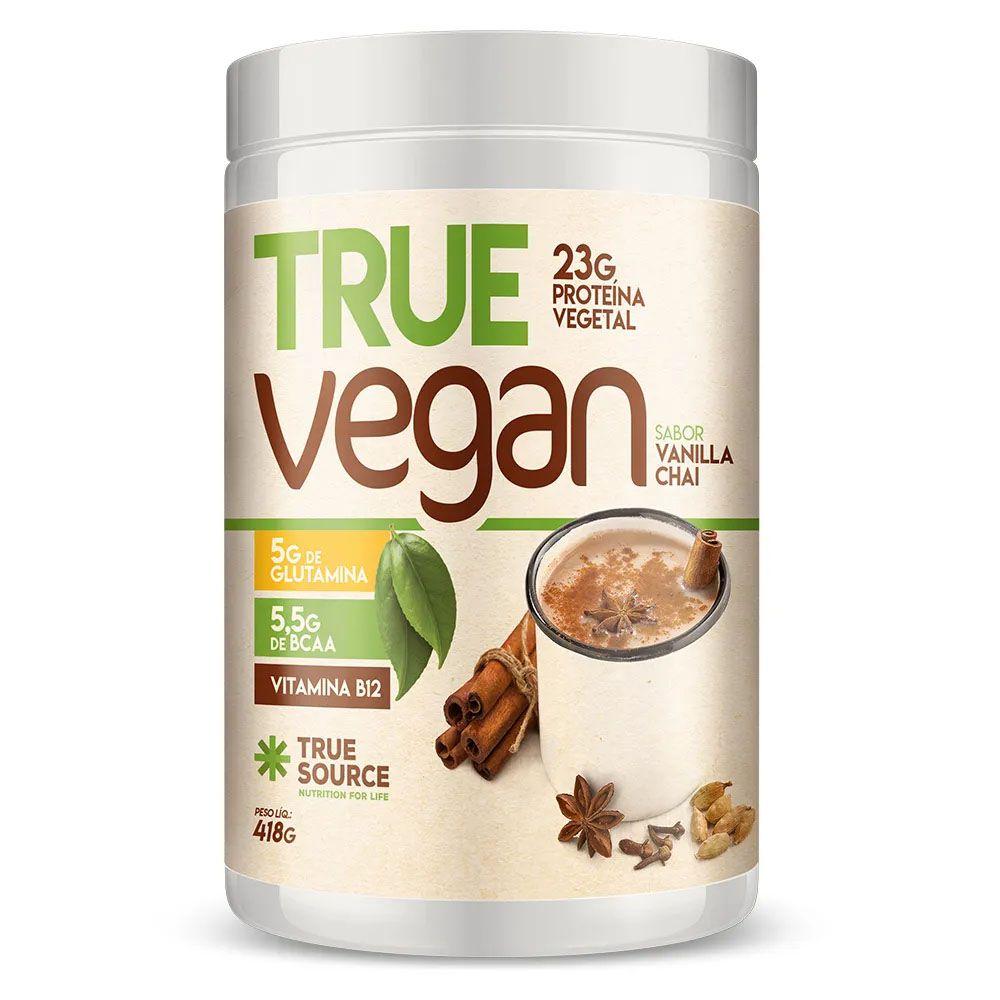 True Vegan Vanilla Chai 418g - Proteina Vegana True Source  - KFit Nutrition