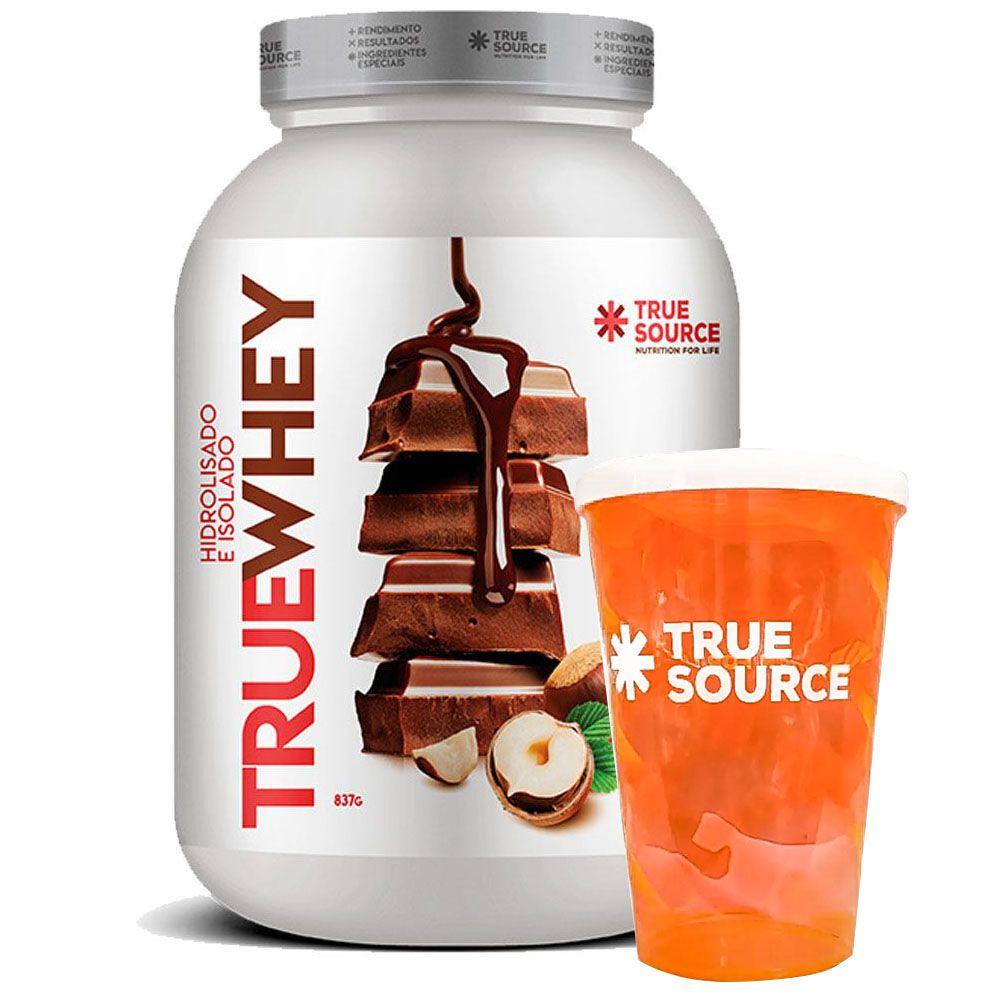 True Whey Chocolate Com Avelã 837g + Copo True Source  - KFit Nutrition