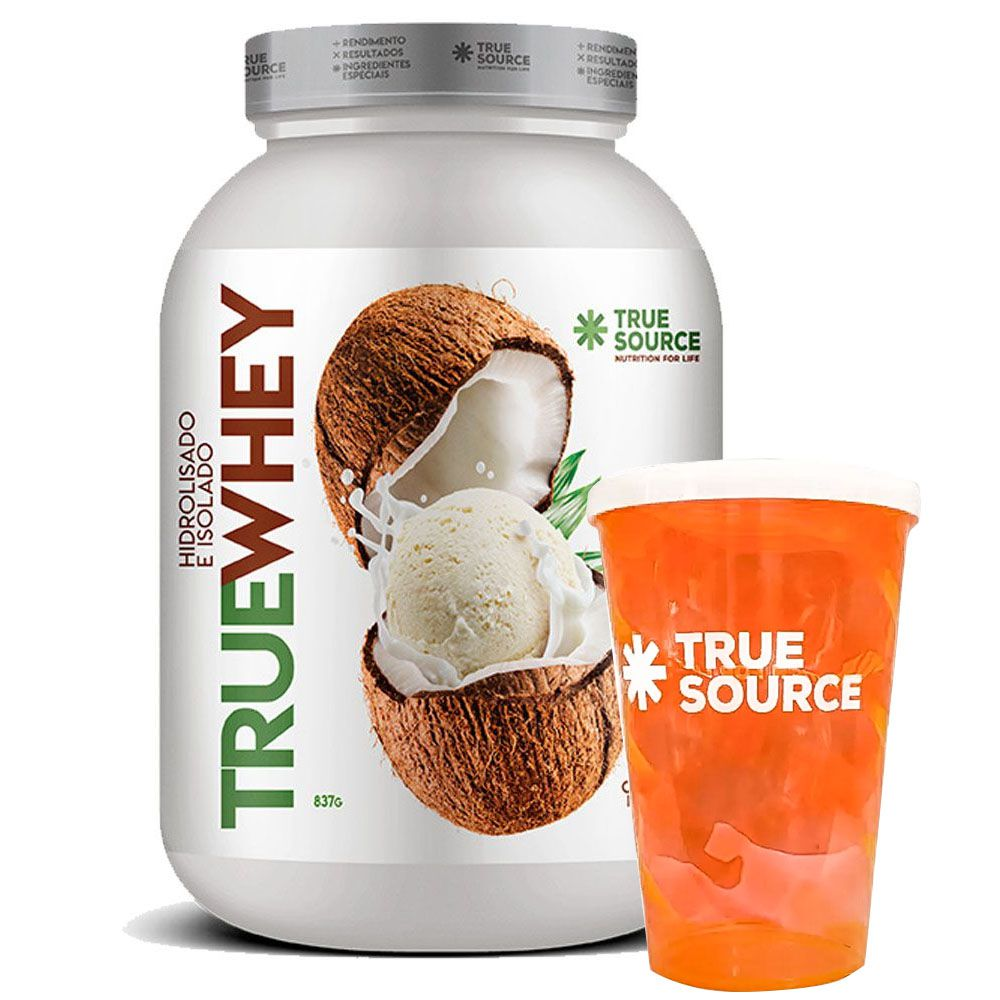 True Whey Coco Ice Cream 837g + Copo True Source - KFit Nutrition