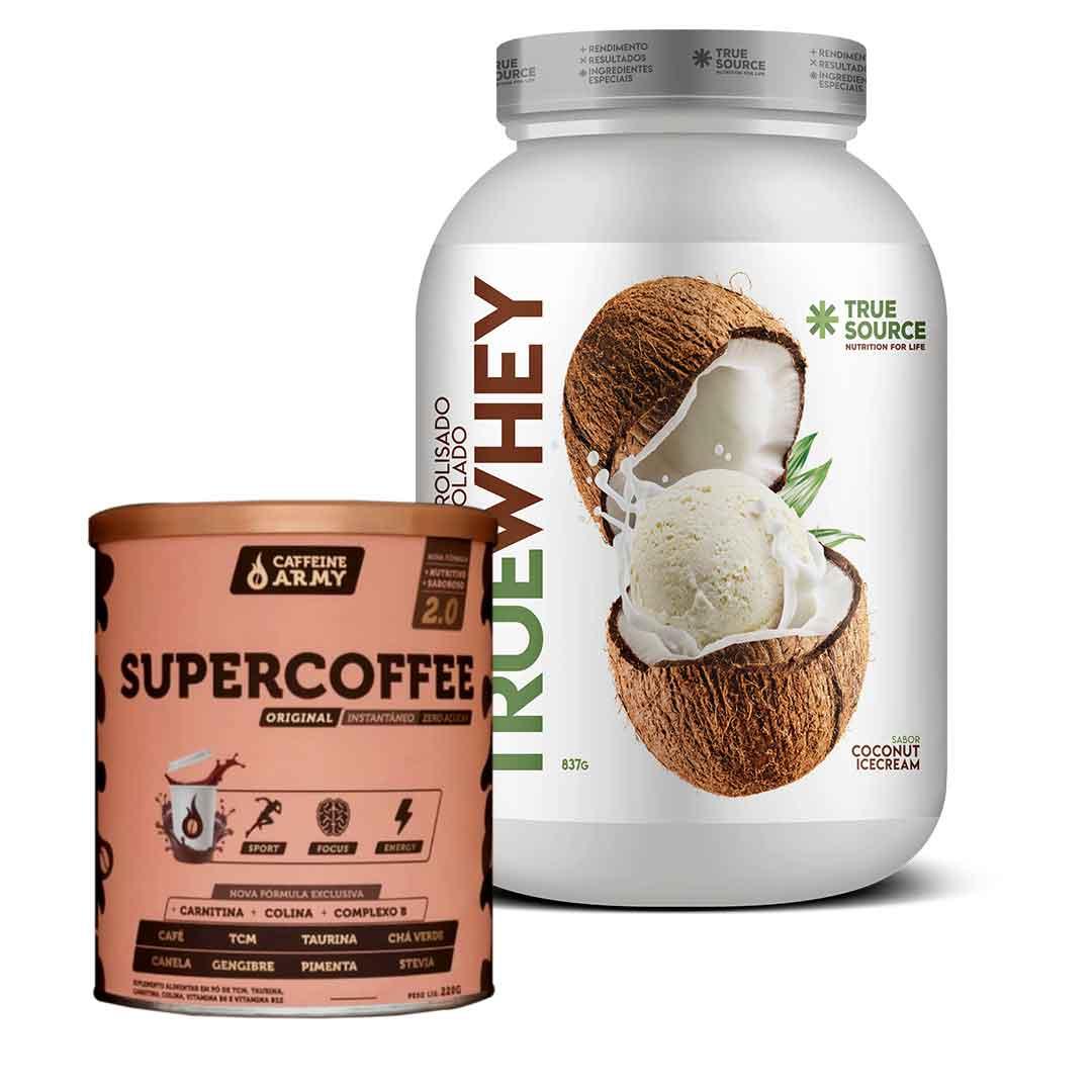 True Whey Coco Ice Cream 837g + Supercoffee 2.0 220g  - KFit Nutrition