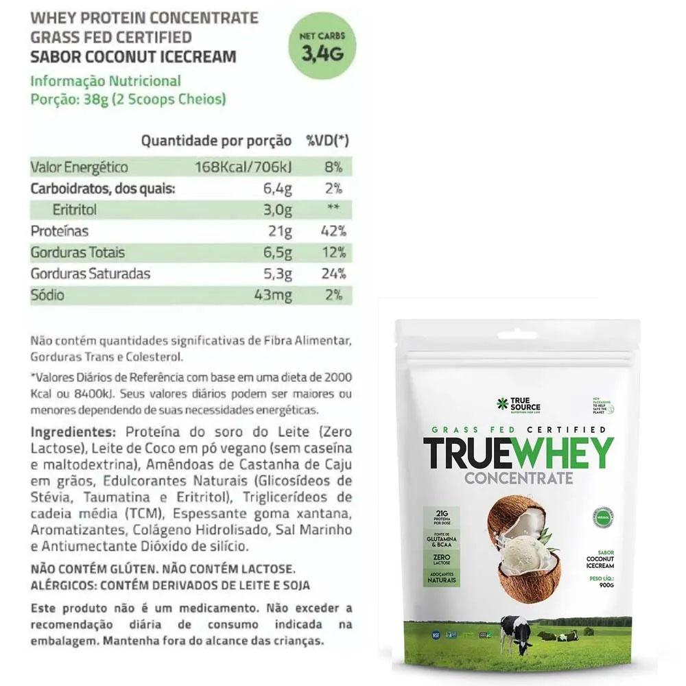 True Whey Concentrado Coconut 900g e Supercoffee 2.0  - KFit Nutrition