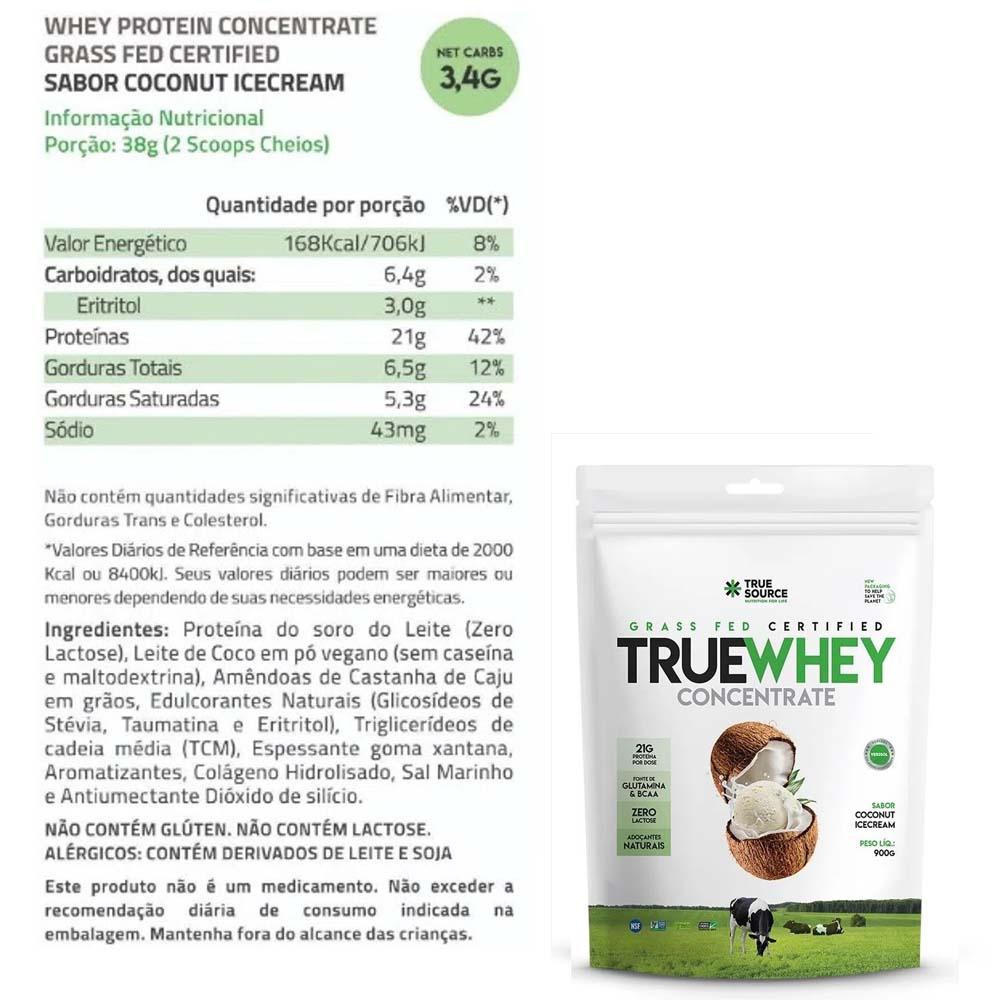 True Whey Concentrado Coconut Icecream 900g Pouch - True Source  - KFit Nutrition