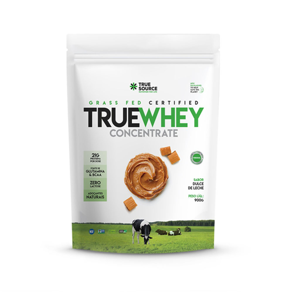 True Whey Concentrado Doce de Leite 900g Pouch - True Source  - KFit Nutrition