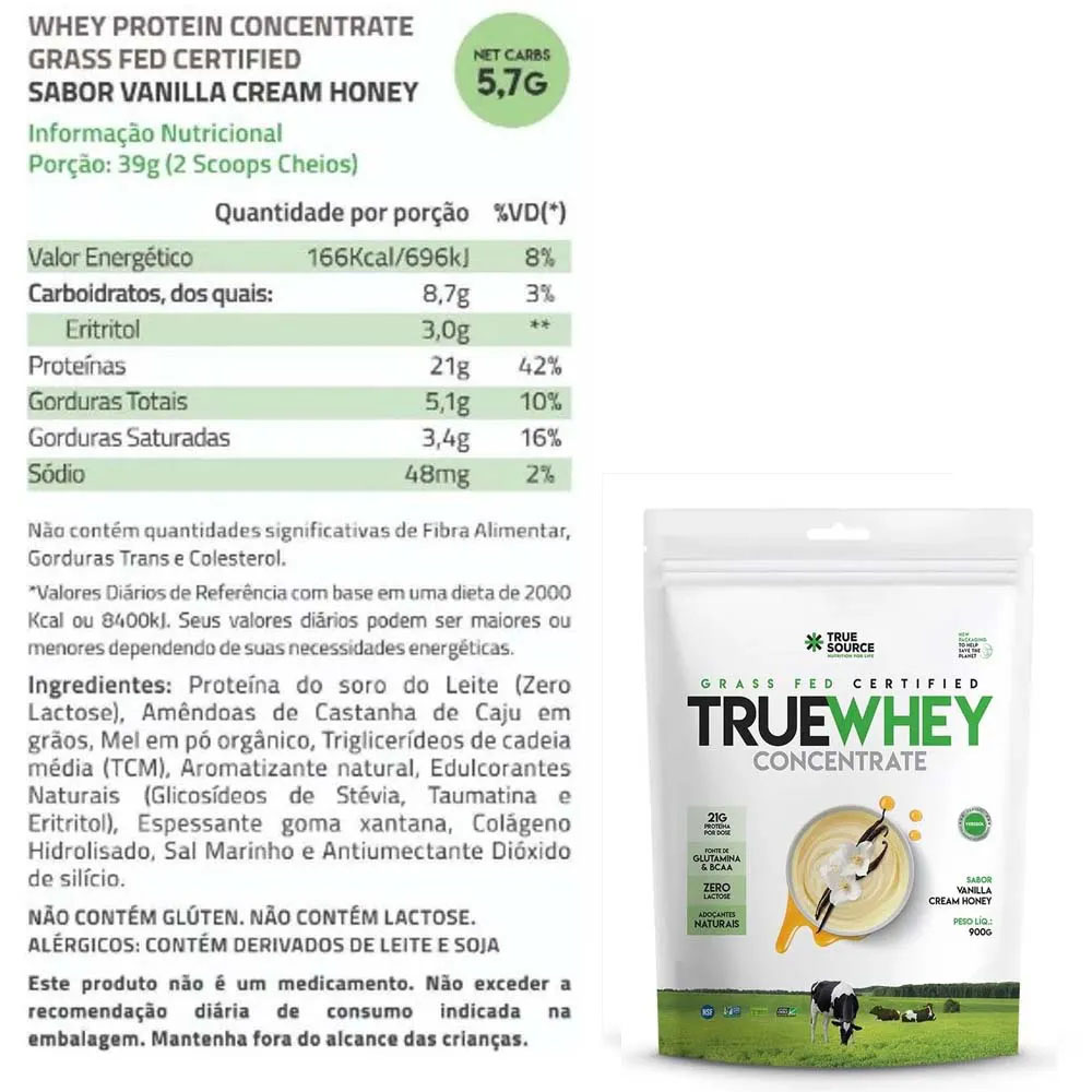 True Whey Concentrado Vanilla Cream 900g e Supercoffee 2.0  - KFit Nutrition