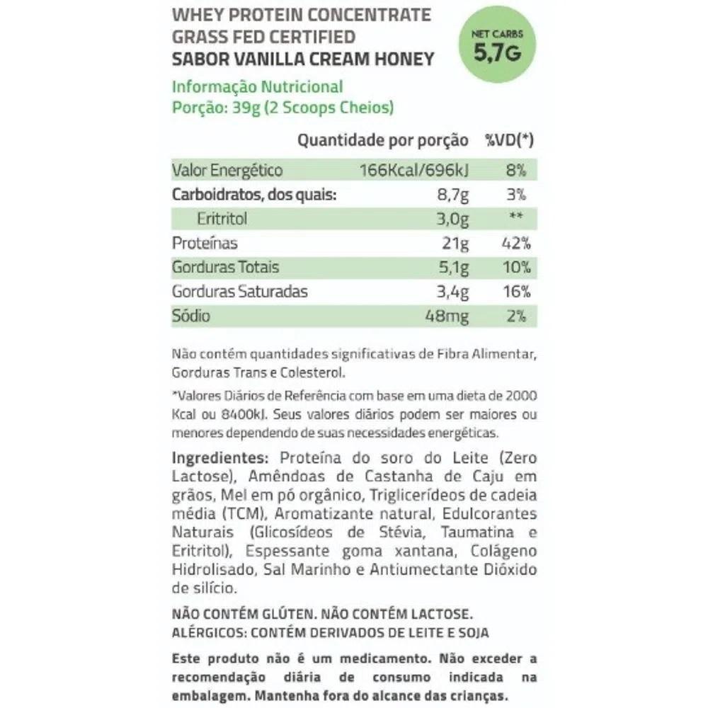 True Whey Concentrado Vanilla Cream Honey 900g Pouch - True Source  - KFit Nutrition