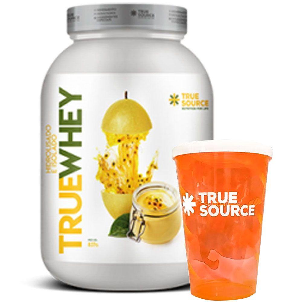 True Whey Mousse de Maracujá 837g + Copo True Source  - KFit Nutrition