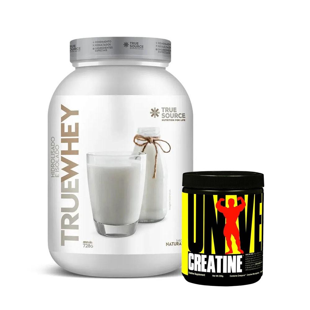 True Whey Natural 837g e Creatina 200g  - KFit Nutrition