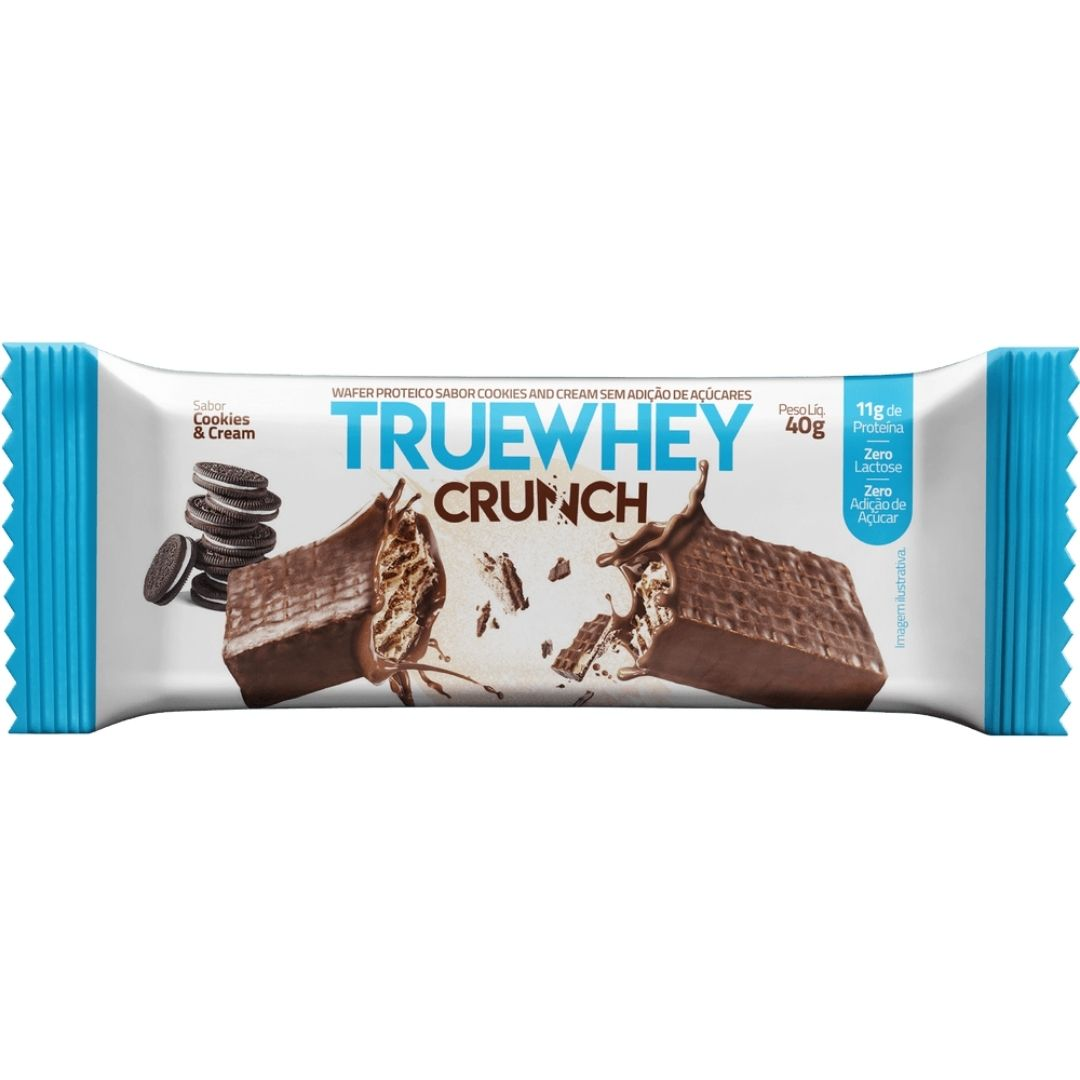 Truewhey Crunch Wafer Cookies And Cream Cx 12un  True Source  - KFit Nutrition