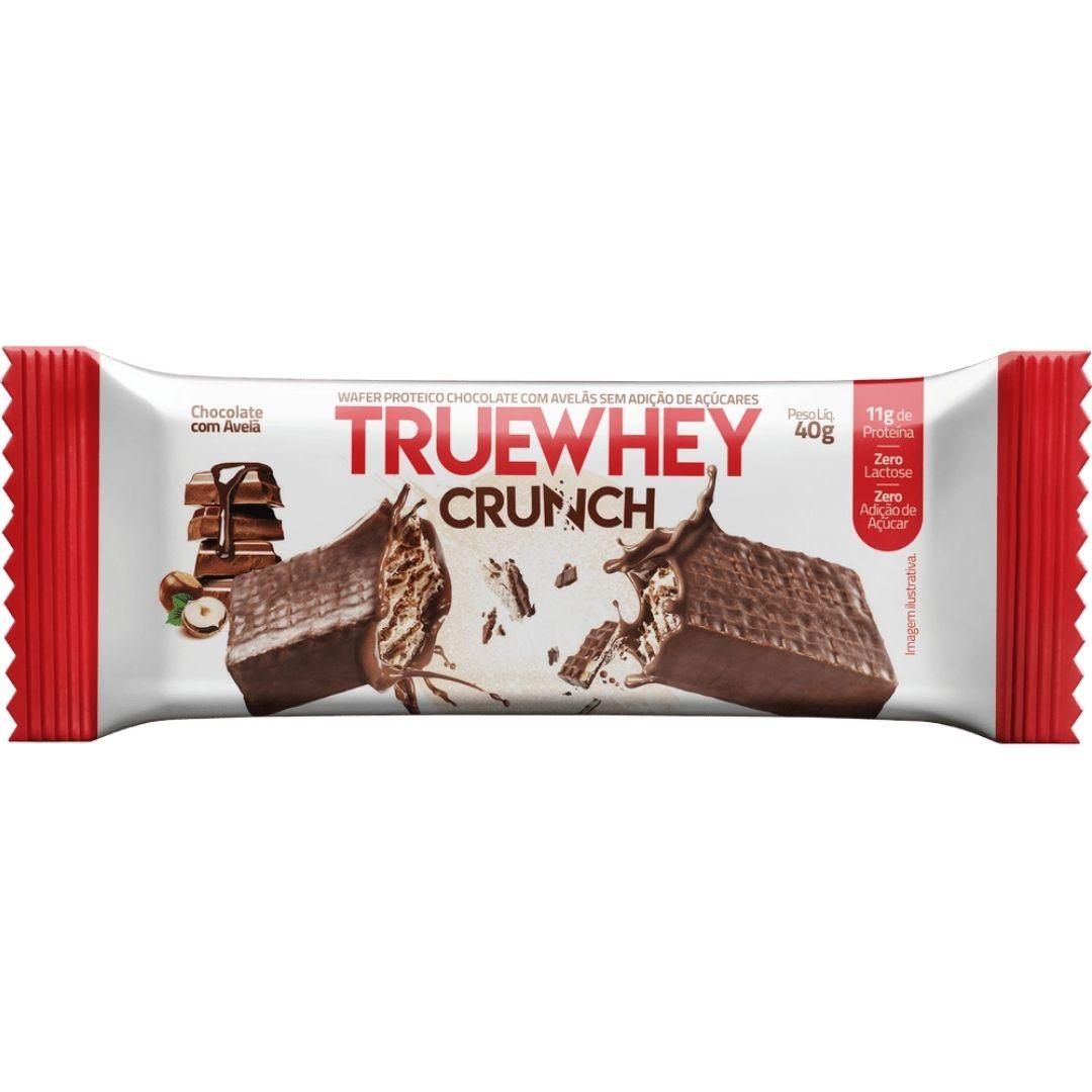 Truewhey Vegan Crunch Wafer Chocolate com Avela Cx 12un - True Source  - KFit Nutrition