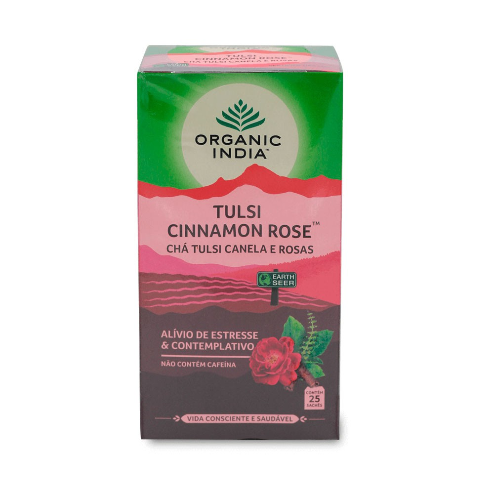 Tulsi Cinnamon Rose Canela e Rosas Alivio Estresse   - KFit Nutrition