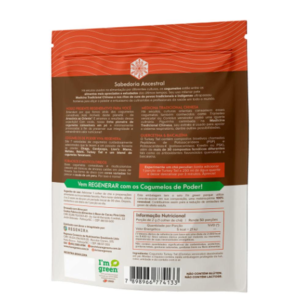 Turkey Tail Cogumelo Desidratado em Pó 100g - Viva Regenera  - KFit Nutrition