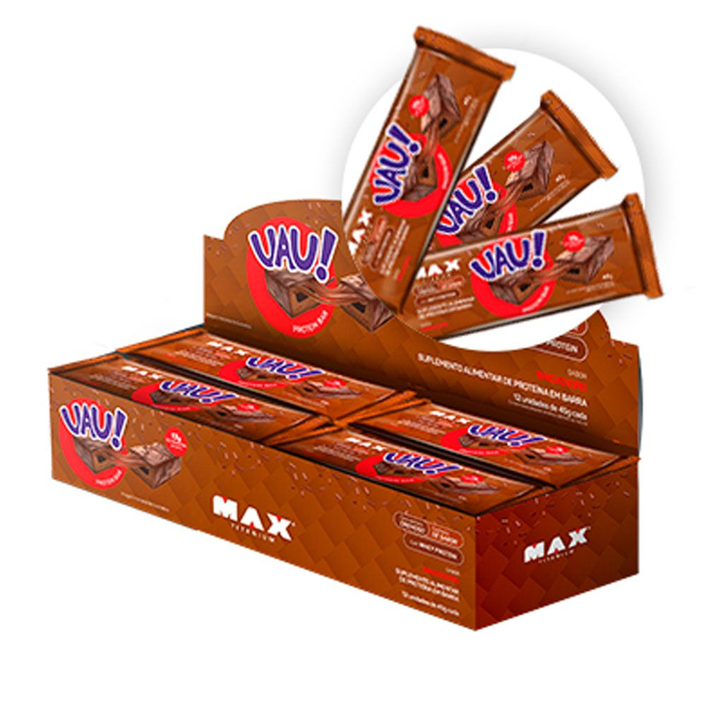 UAU Protein Bar Brigadeiro 45G - Cx 12 Un  - KFit Nutrition
