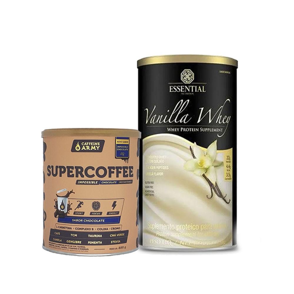 Vanilla Whey 450G E Supercoffee 220g Chocolate  - KFit Nutrition