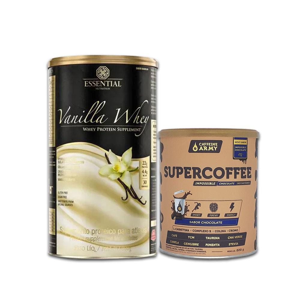 Vanilla Whey 900g e Supercoffee 220g Chocolate  - KFit Nutrition