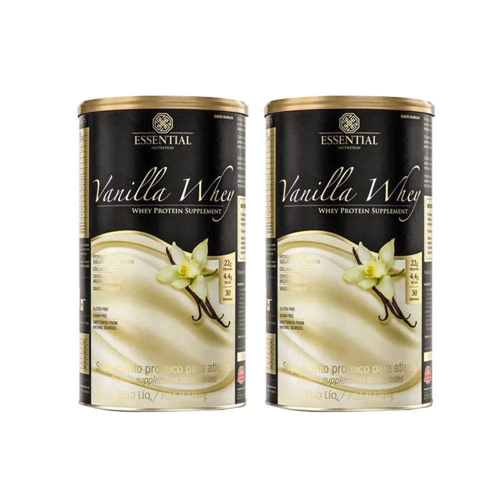 Vanilla Whey 900g Essential Nutrition 2 Un 50% Off na Segunda Unidade  - KFit Nutrition