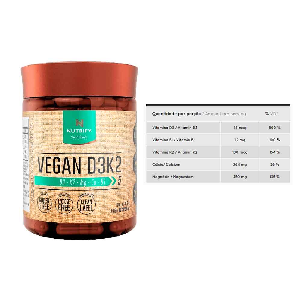 Vegan D3k2 60 Caps - Nutrify  - KFit Nutrition