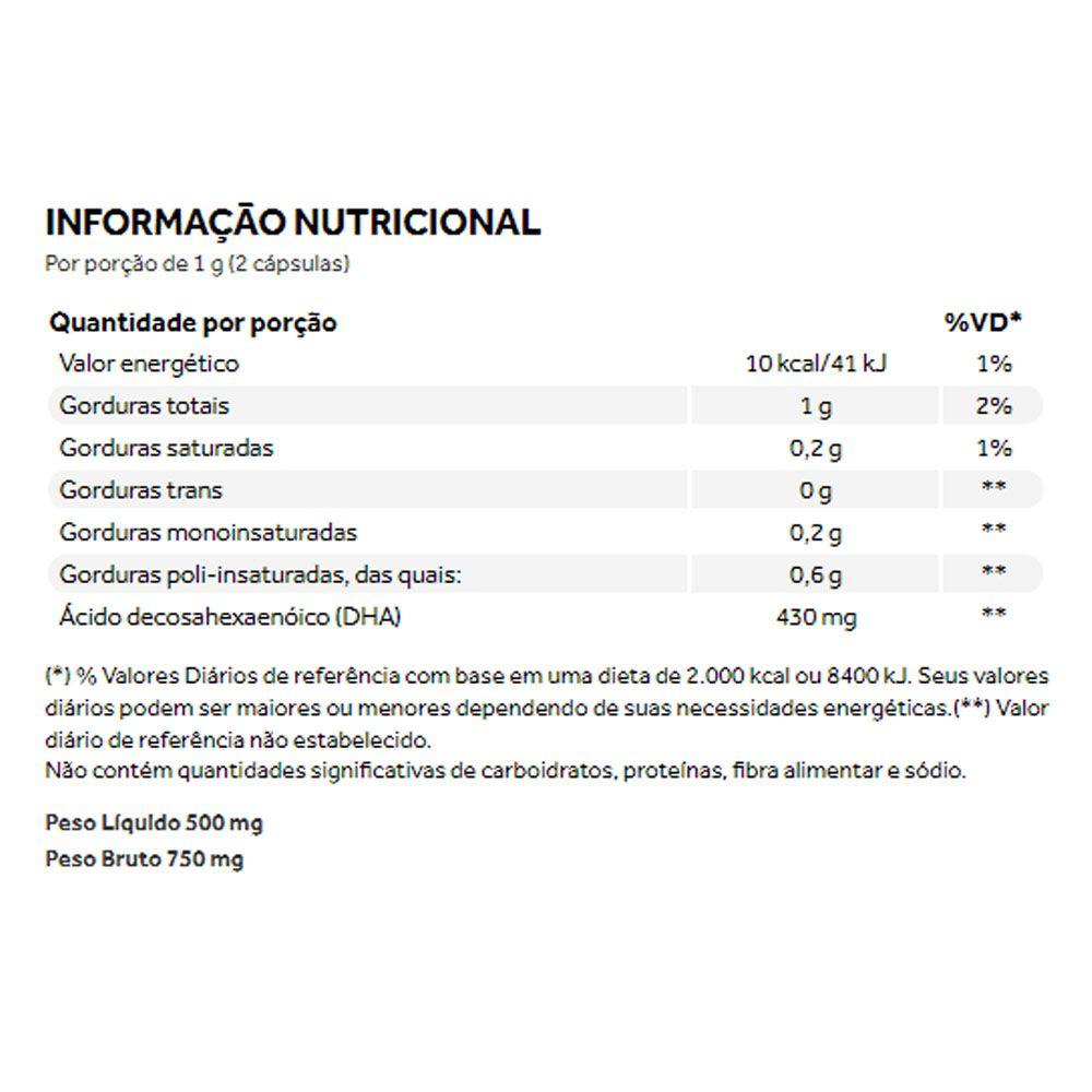 Vegan Ômega 3 DHA 60 Cáps - Omega 3 Vegano Puravida  - KFit Nutrition