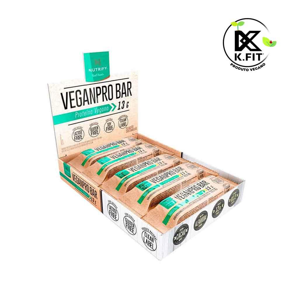 Veganpro Bar Baunilha Cx 10un 400g - Nutrify  - KFit Nutrition
