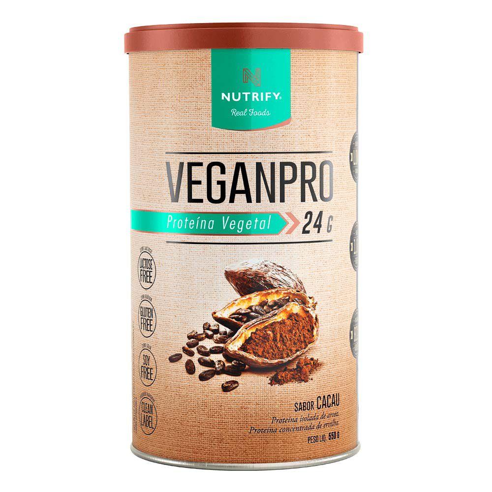 Veganpro cacau - Proteína em Pó 550g - Nutrify  - KFit Nutrition