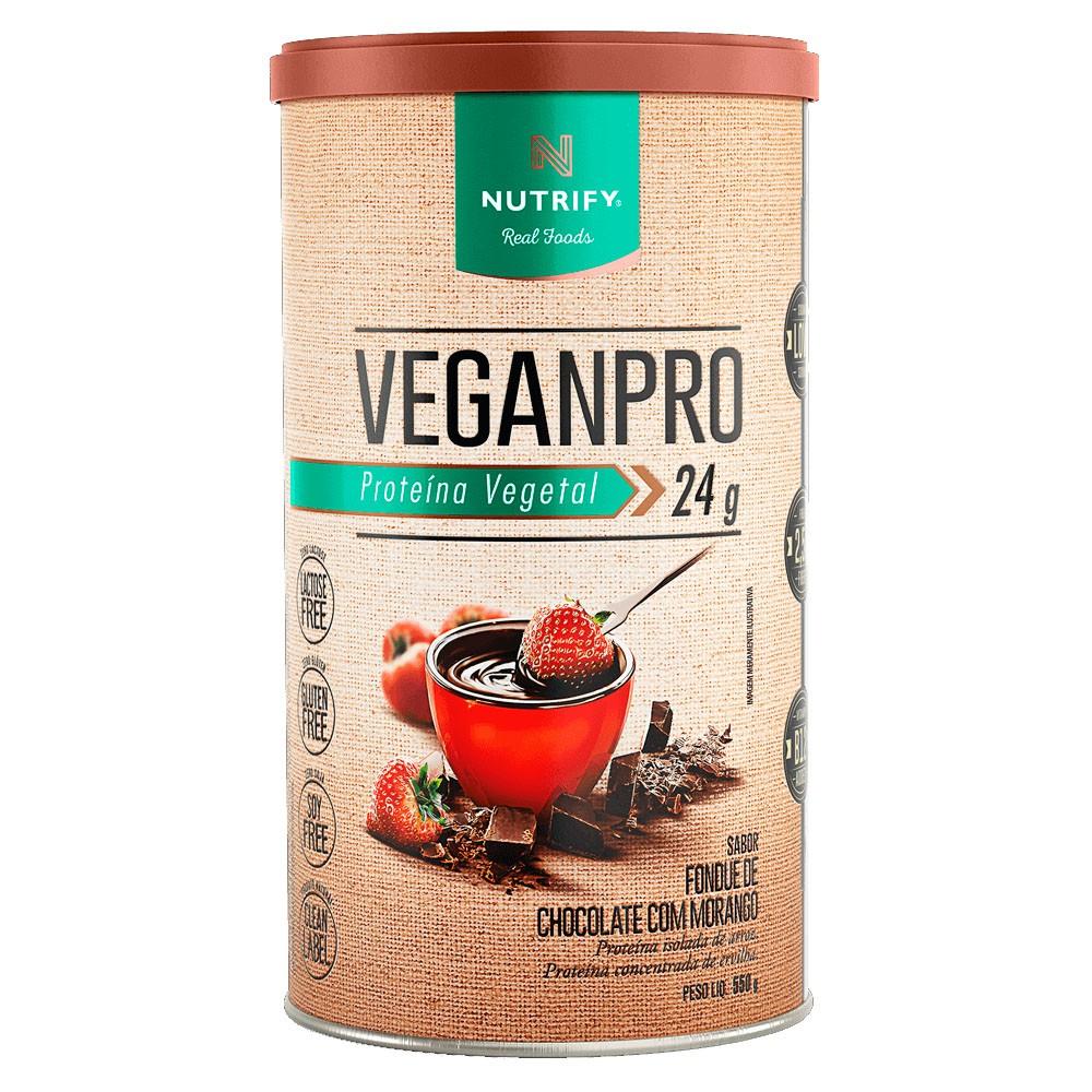 Veganpro Fondue de Chocolate com Morango - 550g - Nutrify  - KFit Nutrition