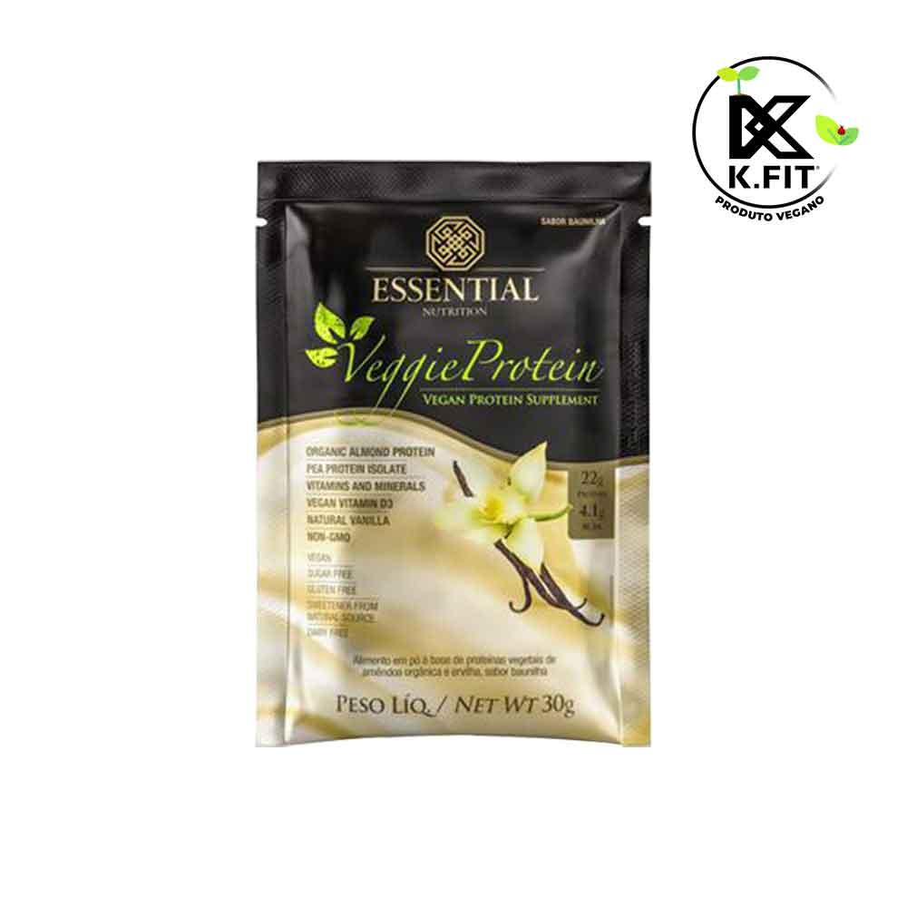 Veggie Protein 30g Baunilha Sachê Essential Nutrition  - KFit Nutrition