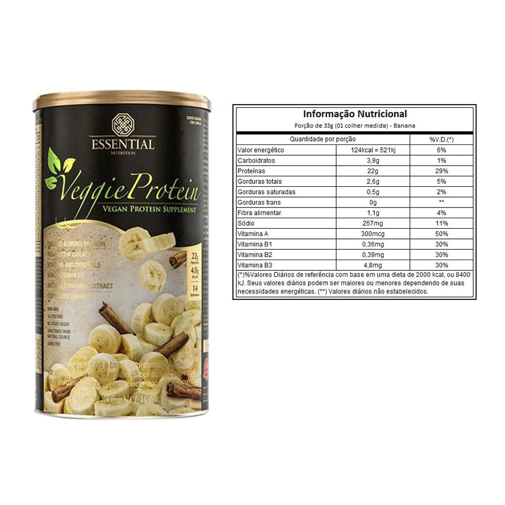 Veggie Whey Protein Banana Com Canela 462g   - KFit Nutrition