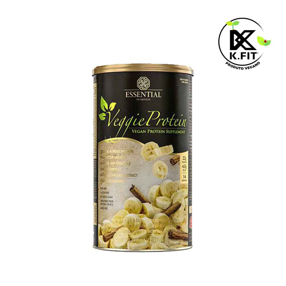 Veggie Whey Protein Banana Com Canela 462g Essential  - KFit Nutrition