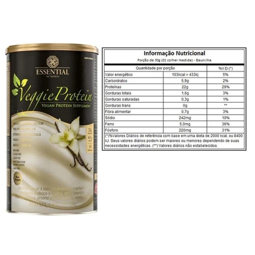 Veggie Whey Protein Baunilha 455g Essential 2 Un  - KFit Nutrition