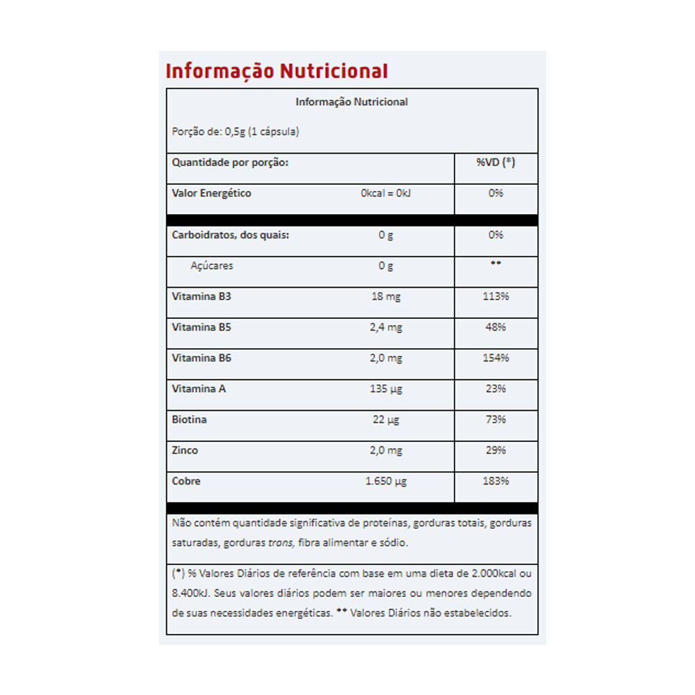 Vitabeauty 60 Capsulas Vitafor  - KFit Nutrition