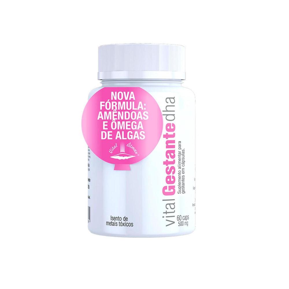 Vital Gestante DHA 60 Cáps - Vital Atman  - KFit Nutrition
