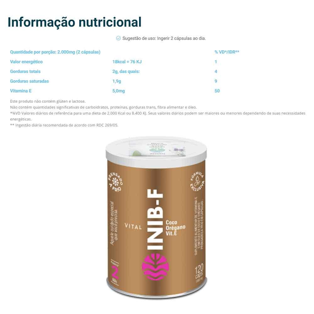 Vital Inib 120 Cáps - Vital Atman  - KFit Nutrition