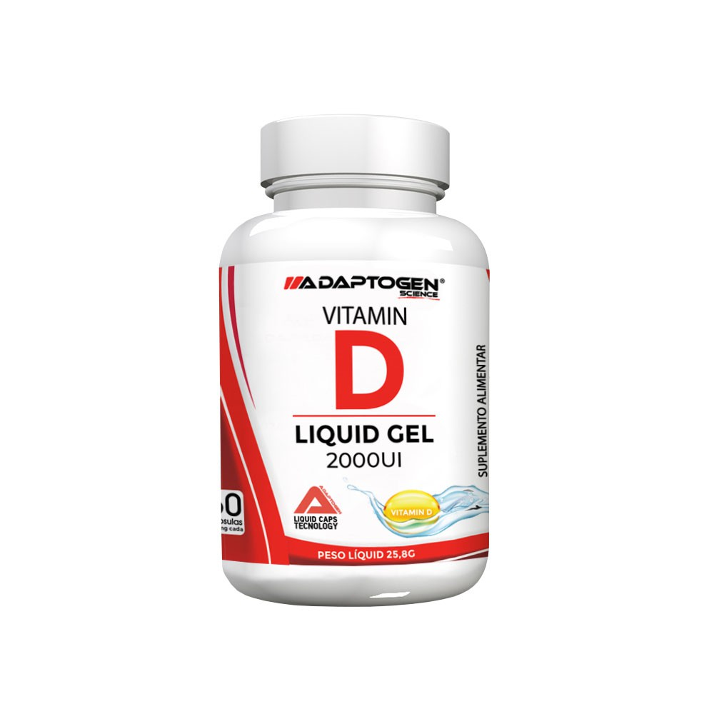 Vitamin D Liquid Gel 2000UI - Adaptogen  - KFit Nutrition