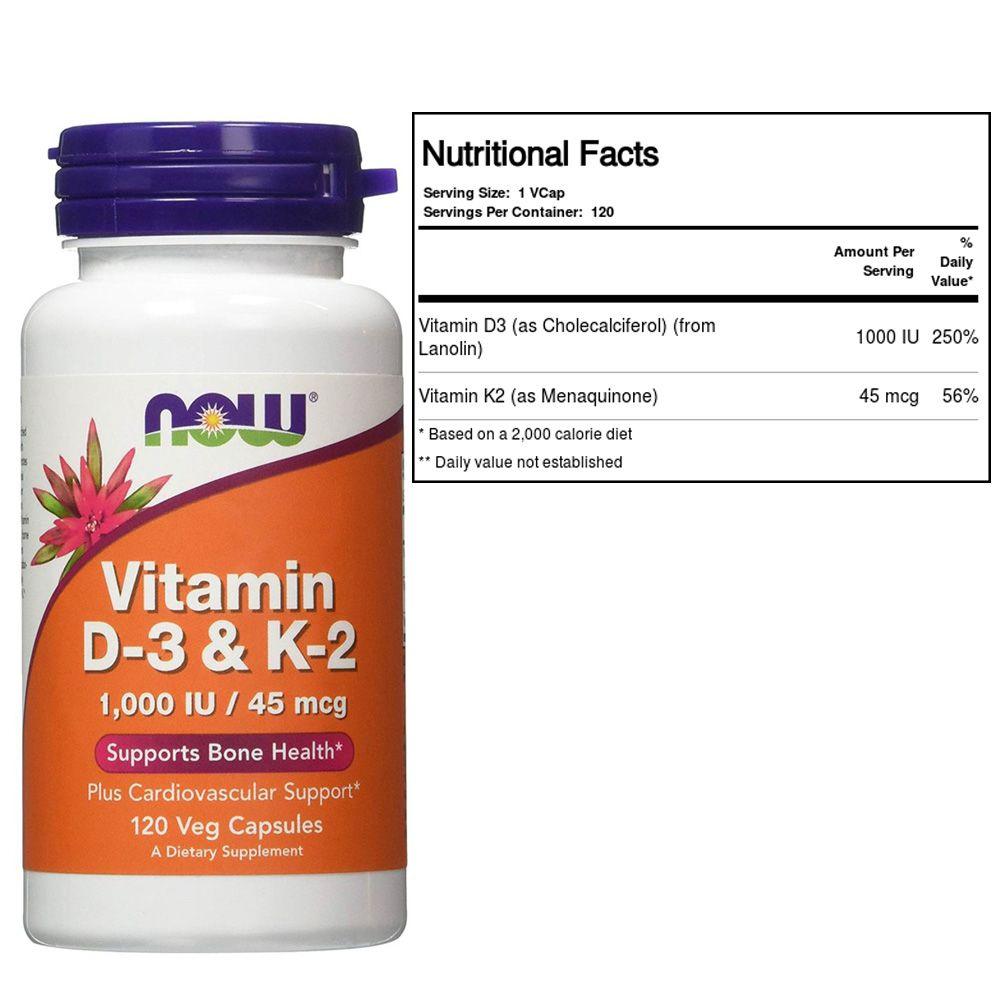 Vitamina d3+k2 Now 120s Nowfoods  - KFit Nutrition