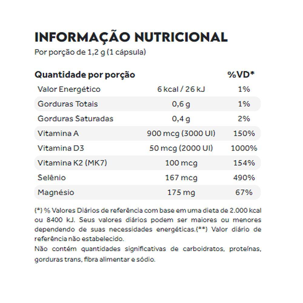 Vitamina D3 Synergy 60 caps 2000 UI Puravida  - KFit Nutrition