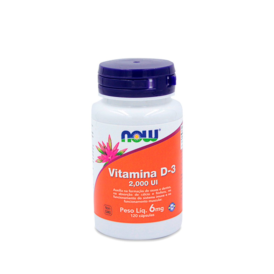 Vitamina D-3 2000 Ui 6mg 120cáps - Now Sports  - KFit Nutrition