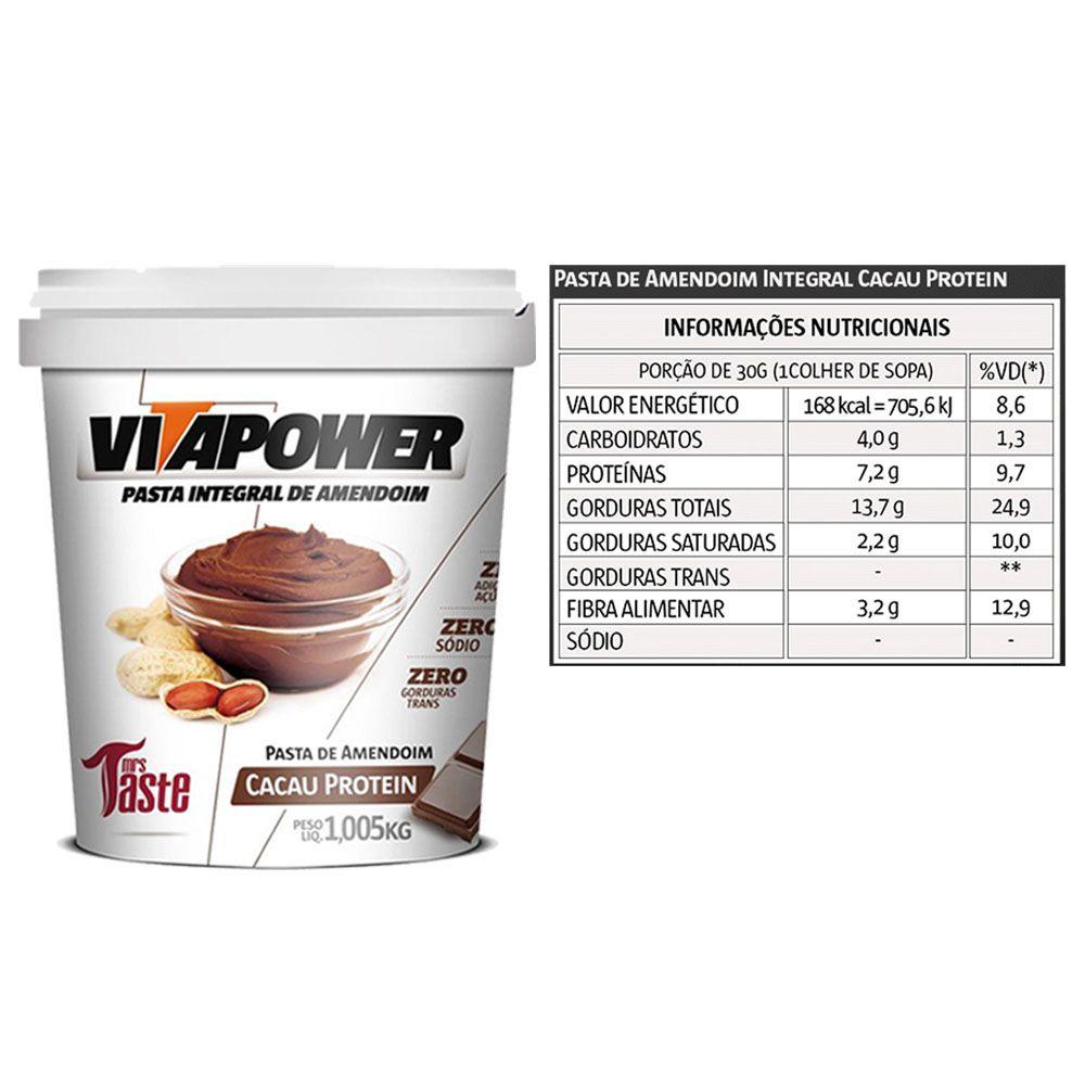Whey 900g Cookies + Vitapower 1kg Cacau + Bottle 500ml  - KFit Nutrition