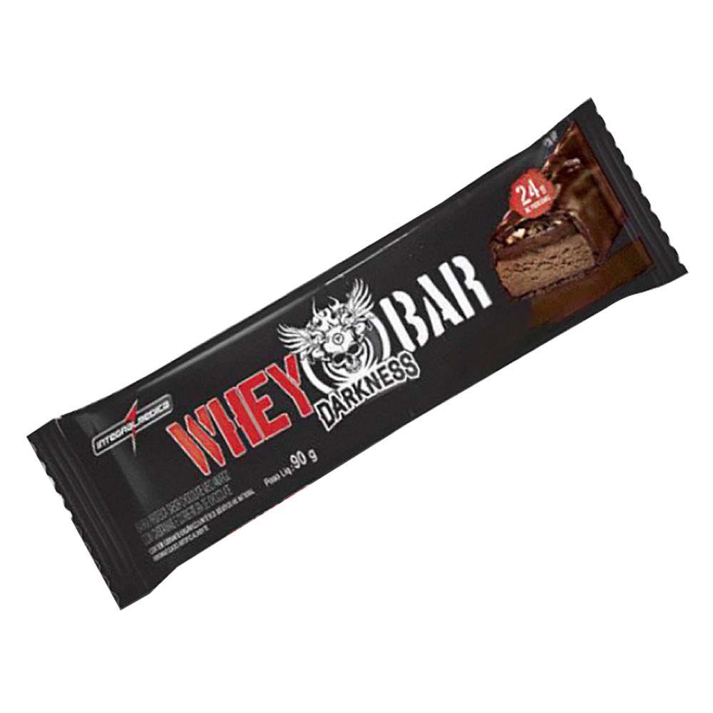 Whey Bar Darkness Salted Caramel Com Amendoim 90g  - KFit Nutrition