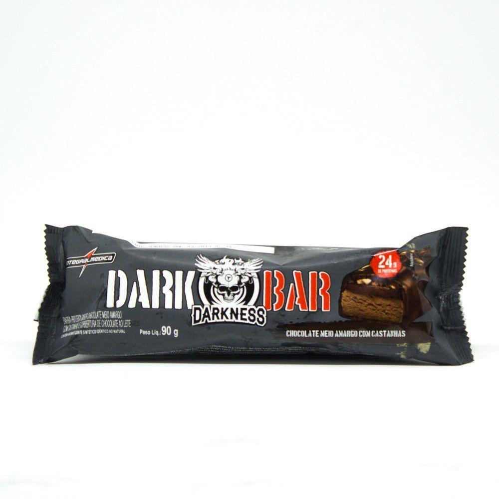 Whey Bar Darkness Chocolate Meio Amargo Castanha   - KFit Nutrition