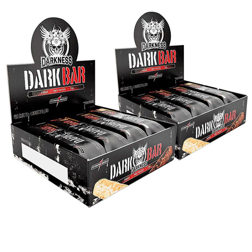 Whey Bar Darkness Salted Caramel  90g 2 Cx  - KFit Nutrition