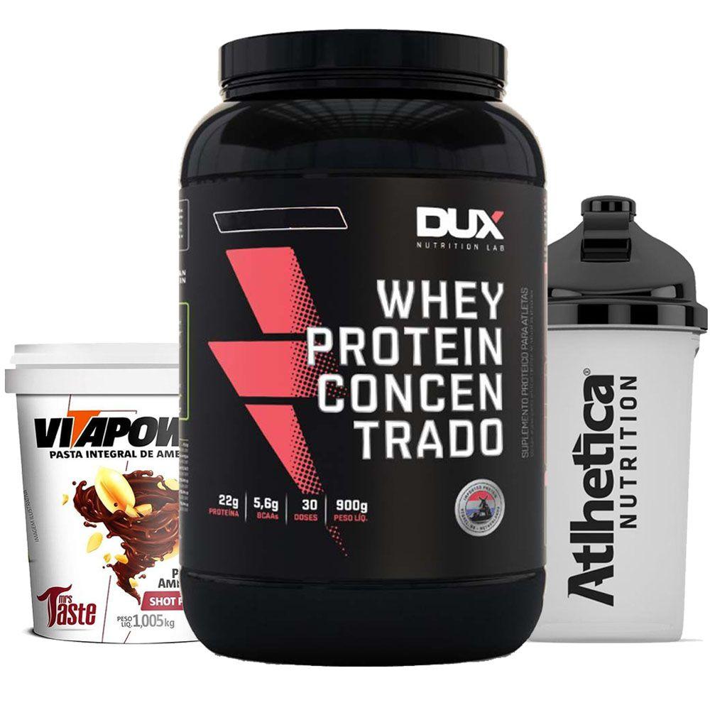 Whey Concentrado 900g Choc + Vitapower 1kg Shot + Bottle  - KFit Nutrition