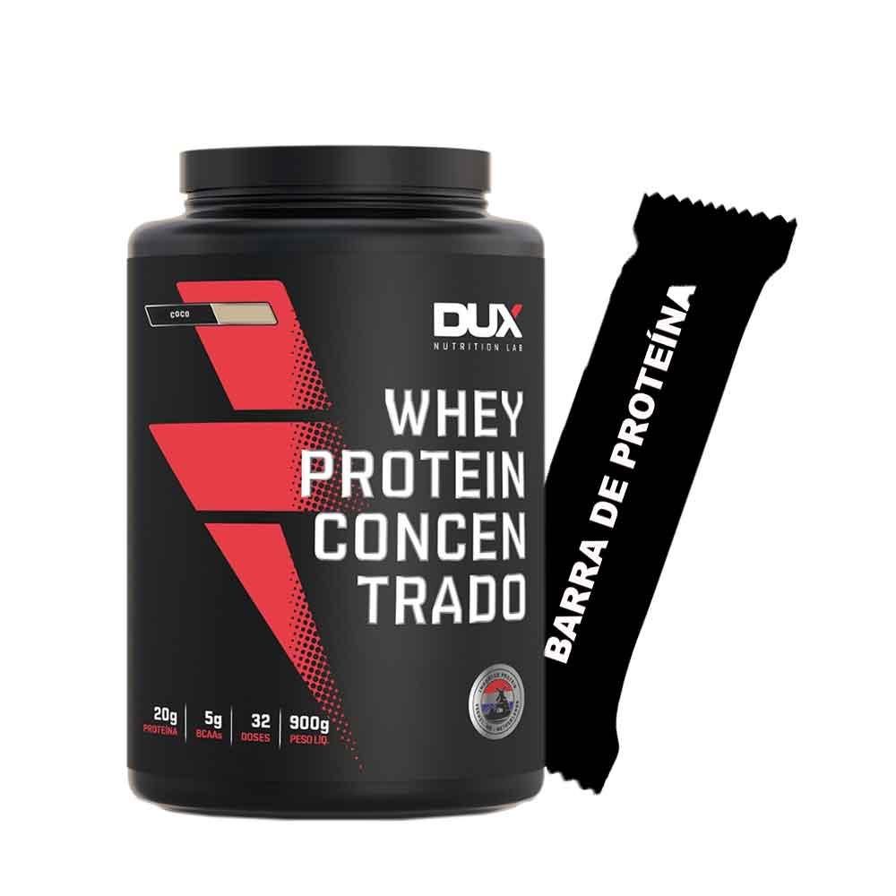 Whey Concentrado 900g Coco + Barra de Proteína  - KFit Nutrition