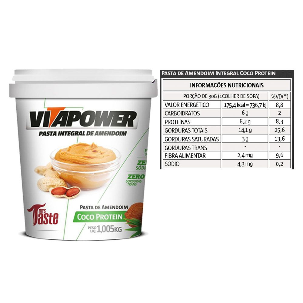 Whey Concentrado 900g Coco + Vitapower 1kg Coco + Bottle  - KFit Nutrition