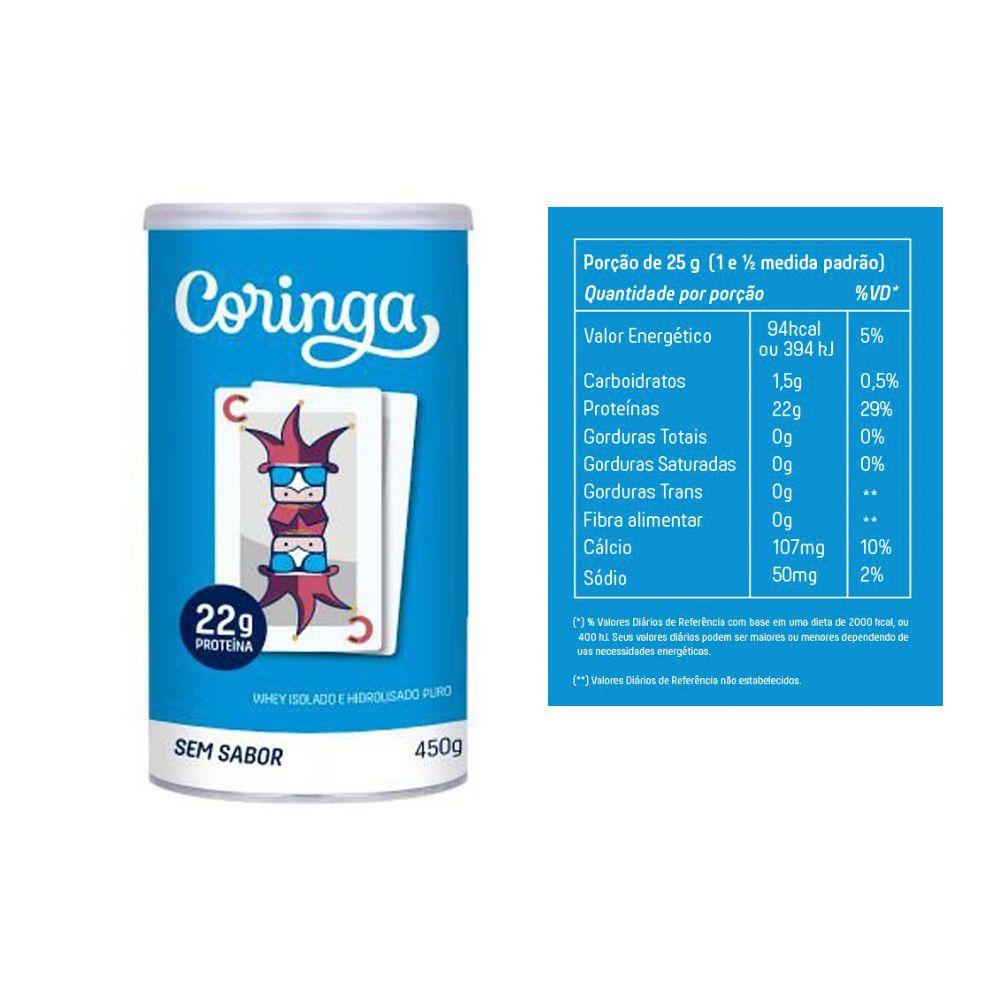 Whey Coringa 450g + Whey Muke 450g Baunilha + Cappuccino  - KFit Nutrition